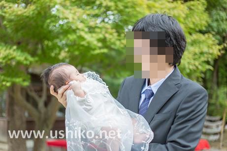 楽しいお宮参りの撮影!パパと赤ちゃん