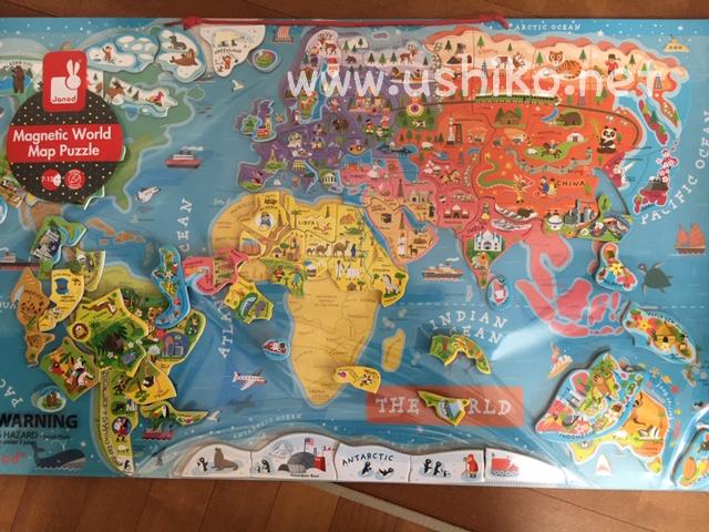 Janodの世界地図パズルがおすすめ!2歳3歳4歳5歳の子どもに