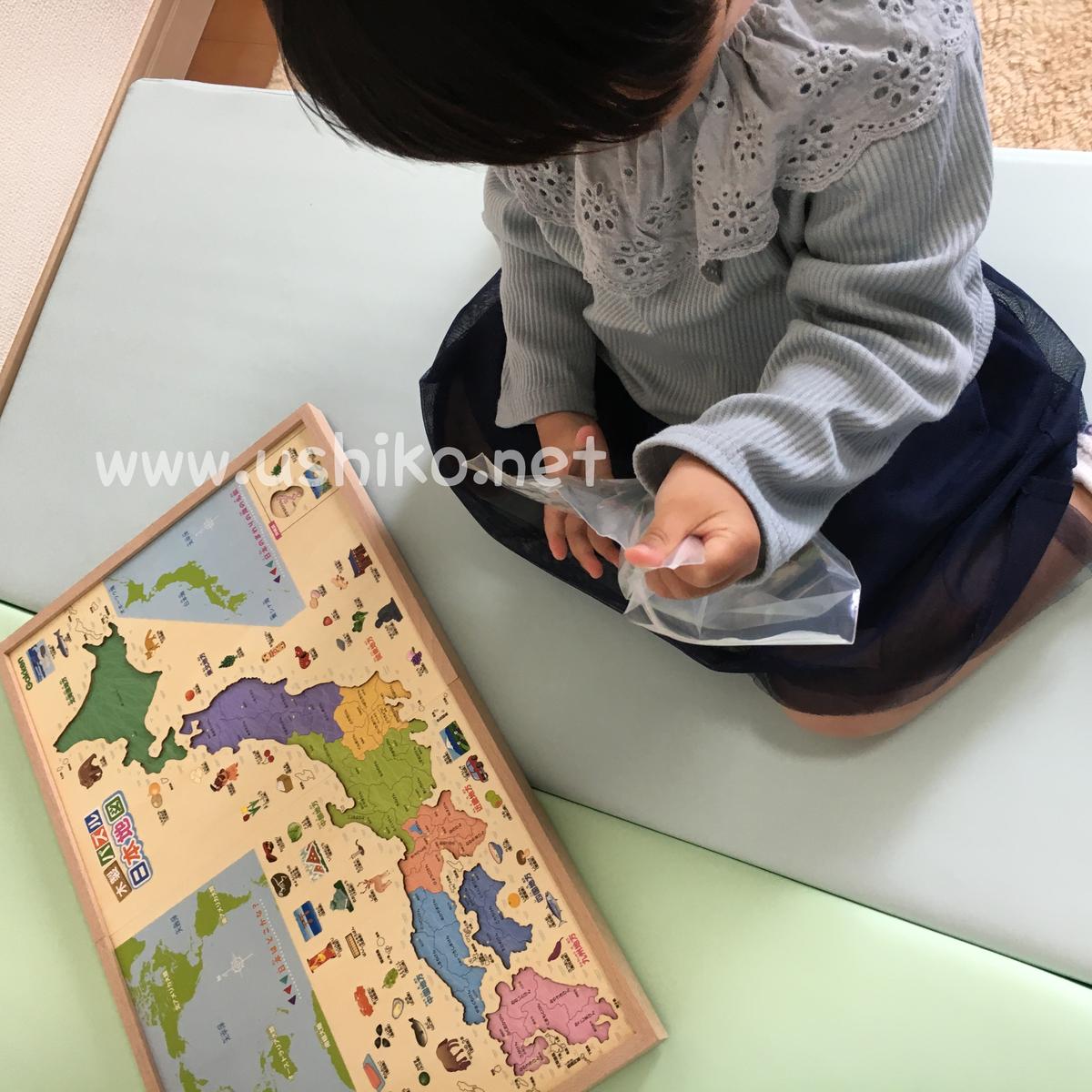 2歳児の知育に学研木製日本地図パズルを導入【誕生日クリスマスプレゼントに】