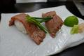 近江牛の炙り寿司