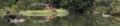 六義園、蓬莱島と臥龍石