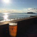 稲村ヶ崎から眺める江ノ島夕景