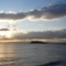 七里ガ浜から眺める江ノ島夕景