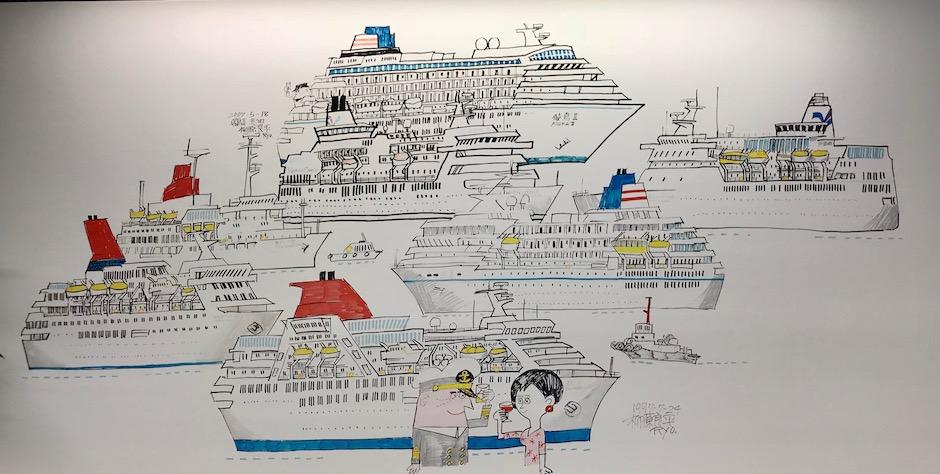柳原良平の描いた日本の客船