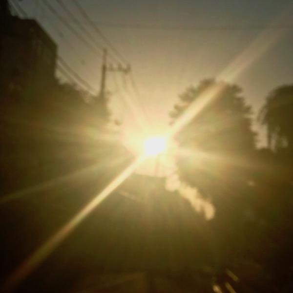 黄昏の陽光