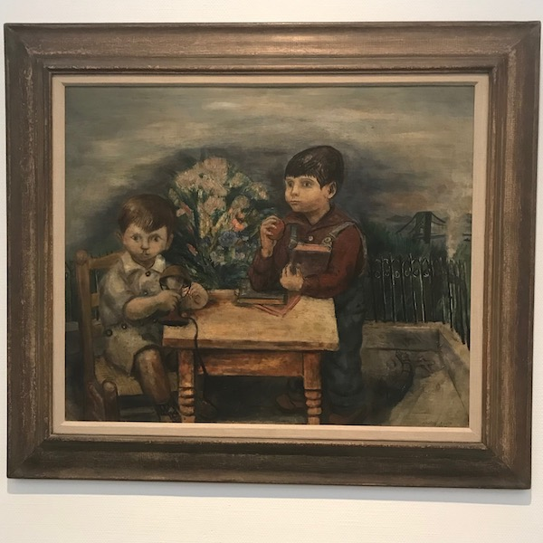 野田英夫、二人の子供