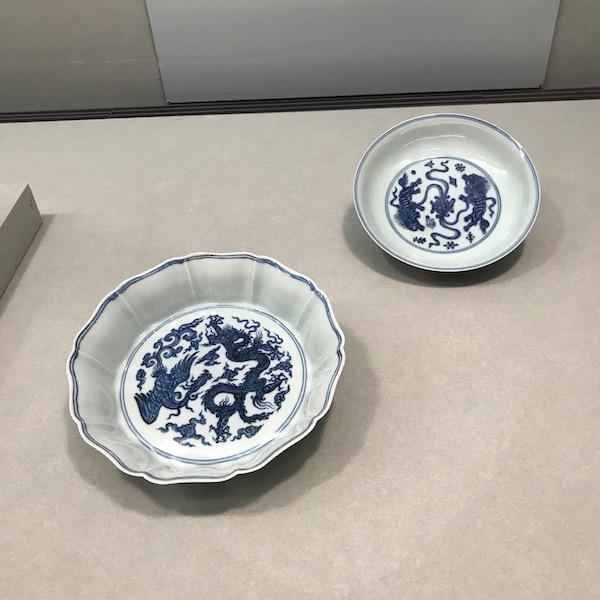 青花磁器皿