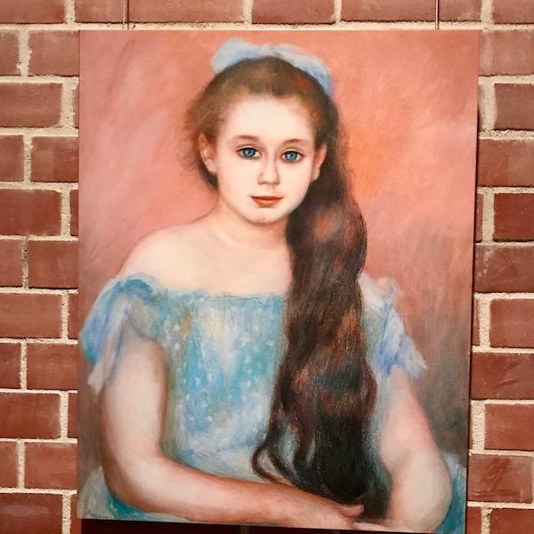 ルノワール、シュザンヌ・アダン嬢の肖像