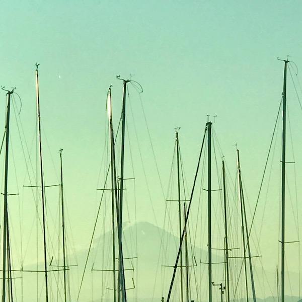 葉山マリーナから望む富士山