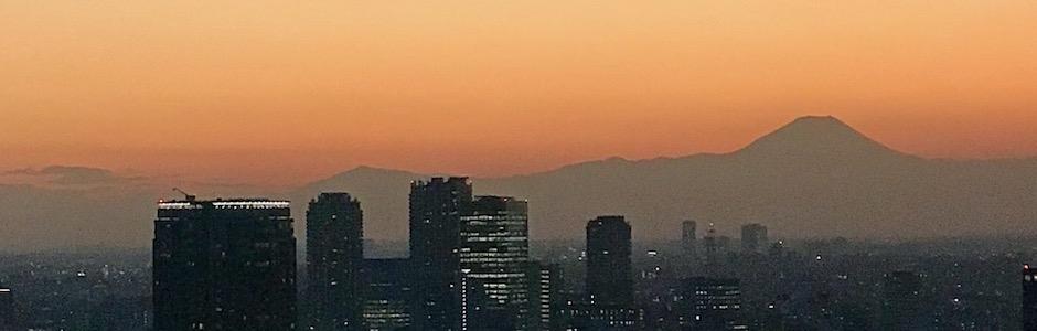 黄昏の富士