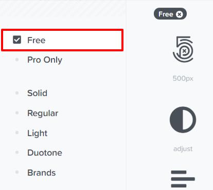 FontAwesome-Freeアイコンの選択