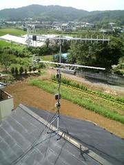 UHFアンテナ(LS30)の交換前。