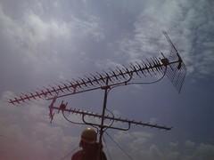 UHFアンテナ(LS30)の交換後。