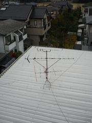 伊奈町栄N様の既設アンテナ。