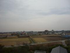 行田市小見K様受信方向(東京タワー方向)の景色。