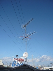 幸手市南M様 アンテナ工事完了。