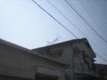 三芳町でアンテナが倒壊していました。