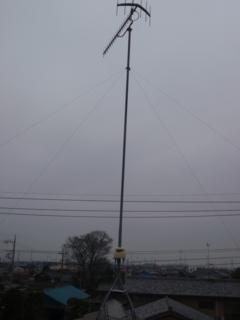 熊谷市妻沼H様の既設UHFアンテナ。