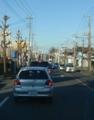 鴻巣の陸橋は渋滞です。