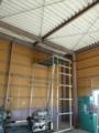 お客様作成の足場パイプでのローリングタワー。