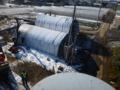 NTT柱の移設工事中です。