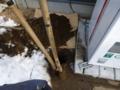 穴が掘り終わりました。