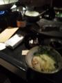 上野で、もつ鍋を食べます。