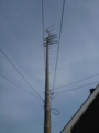 これから、電柱上のアンテナ見に行きます。