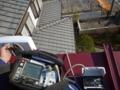 テスト用UAH800で平屋根を横にかに歩きで測定していきます。