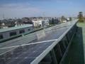 今日は、鴻巣市役所3Fの太陽光パネル洗浄のボランティアです。
