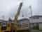 これから、建柱車が動き始めます。