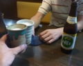 まずは、ノンアルコールビールで乾杯です。
