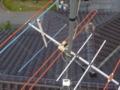 アンテナに雷直撃です。VHFアンテナ。