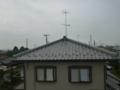 屋根上から、アンテナを撤去します。