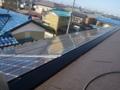 片流れの太陽光パネルです。