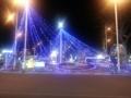 夜の鴻巣駅前のイルミネーションです。