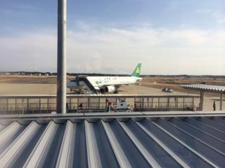 茨城空港で春秋航空、出発間近です。