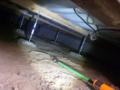 Fケーブルと、床暖房のケーブルは、フィッシャーで引き寄せます。