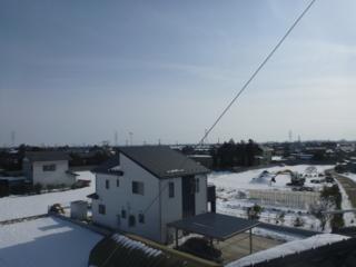 鴻巣市境T様 東京スカイツリー方向の景色。