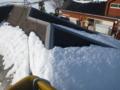 BS取付工事ですが、屋根は南面ですが雪です。