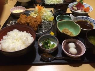 広島産カキフライ御膳 - 藍屋東松山店。