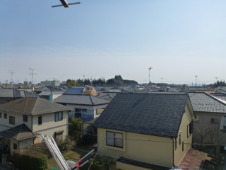 鴻巣市堤町A様 東京スカイツリー方向の景色(完了)。