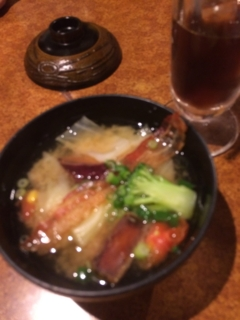 ニッポン放送コラボ企画 食べて楽しいお味噌汁 - びっくりドンキー 上