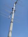 マスト天辺のVHFアンテナは届きません。