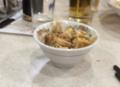 餃子の王将のマーボー豆腐は、ネギ油が効いています。