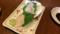 中間休憩食事で、ホタテの刺身です。