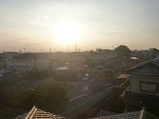 行田市城西U様 児玉局方向の景色。