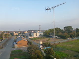 行田市城西U様 東京スカイツリー方向の景色。