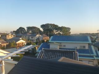 蓮田市見沼町T様 東京スカイツリー方向の景色。