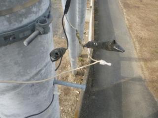 屋外LED防犯灯で絶縁被覆付 閉端接続子です。